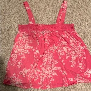 Old navy size medium pink floral tank top
